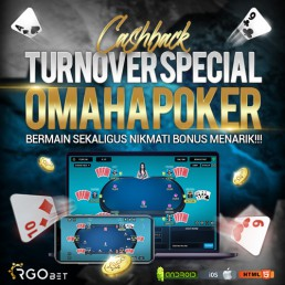 CASHBACK TURNOVER SPECIAL OMAHA POKER 500x500